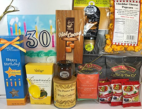 Happy 30th Birthday Gift Box Basket - Send Gourmet Coffees,