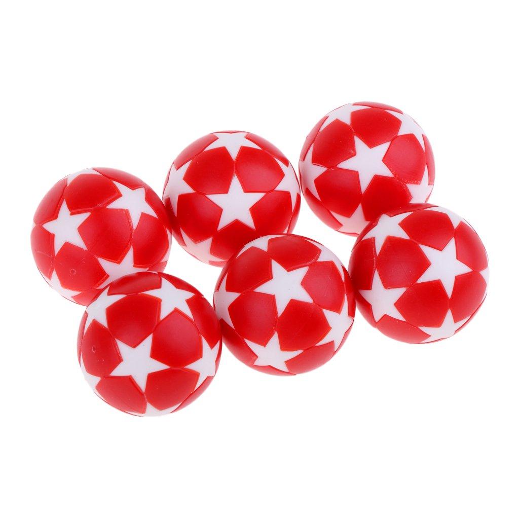 Sharplace 6pcs Balle pour Baby-Foots, Balle de Football Table Miniature Intérieur Maison Jouet