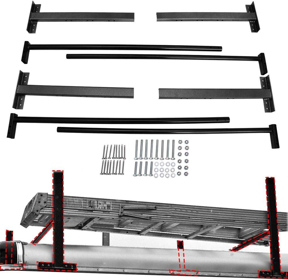 Lonwin - Estante Ajustable para Escalera de Techo, para remolques de 4 a 7 Pulgadas de Ancho, Furgonetas, Camiones o escaleras: Amazon.es: Coche y moto