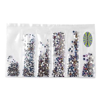 Kashyk 6 tamaños de decoración de uñas, cristales de uñas ...