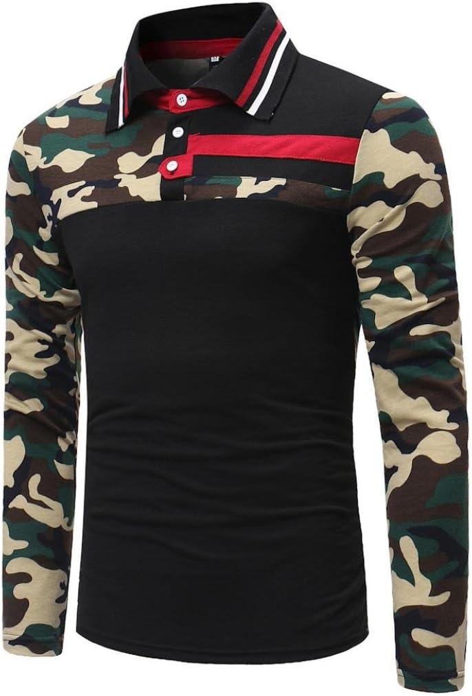 Camisas hombre Los hombres de la solapa de la caída de costura Camisetas camiseta tops,YanHoo® Mens Casual manga larga camisa negocio Slim Fit Camisas de Colorido blusa Cómodo (Negro, M): Amazon.es: Iluminación