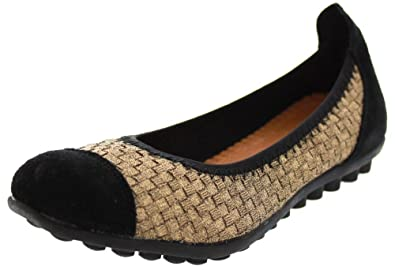 Bernie Mev Bella Me Ballerina Flat Slip On Ballet Shoe - Bronze - Womens -  36
