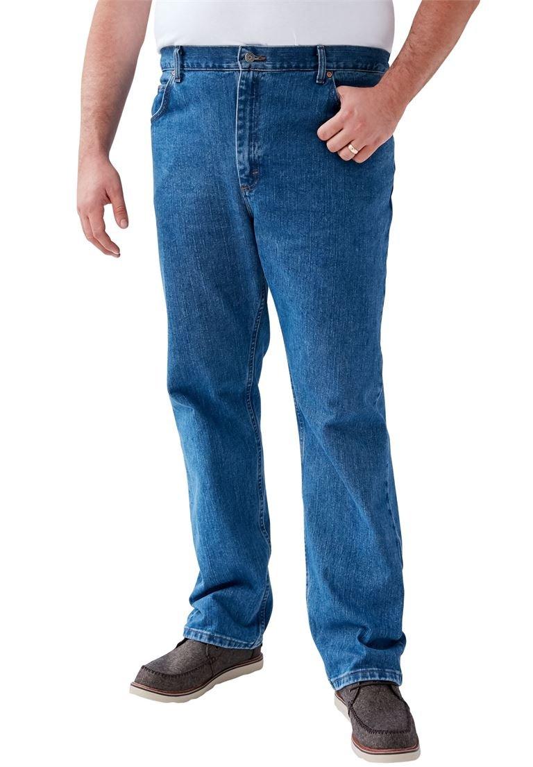 LEE Men's Big & Tall Straight Leg Regular Fit Jeans, Pepper Stone