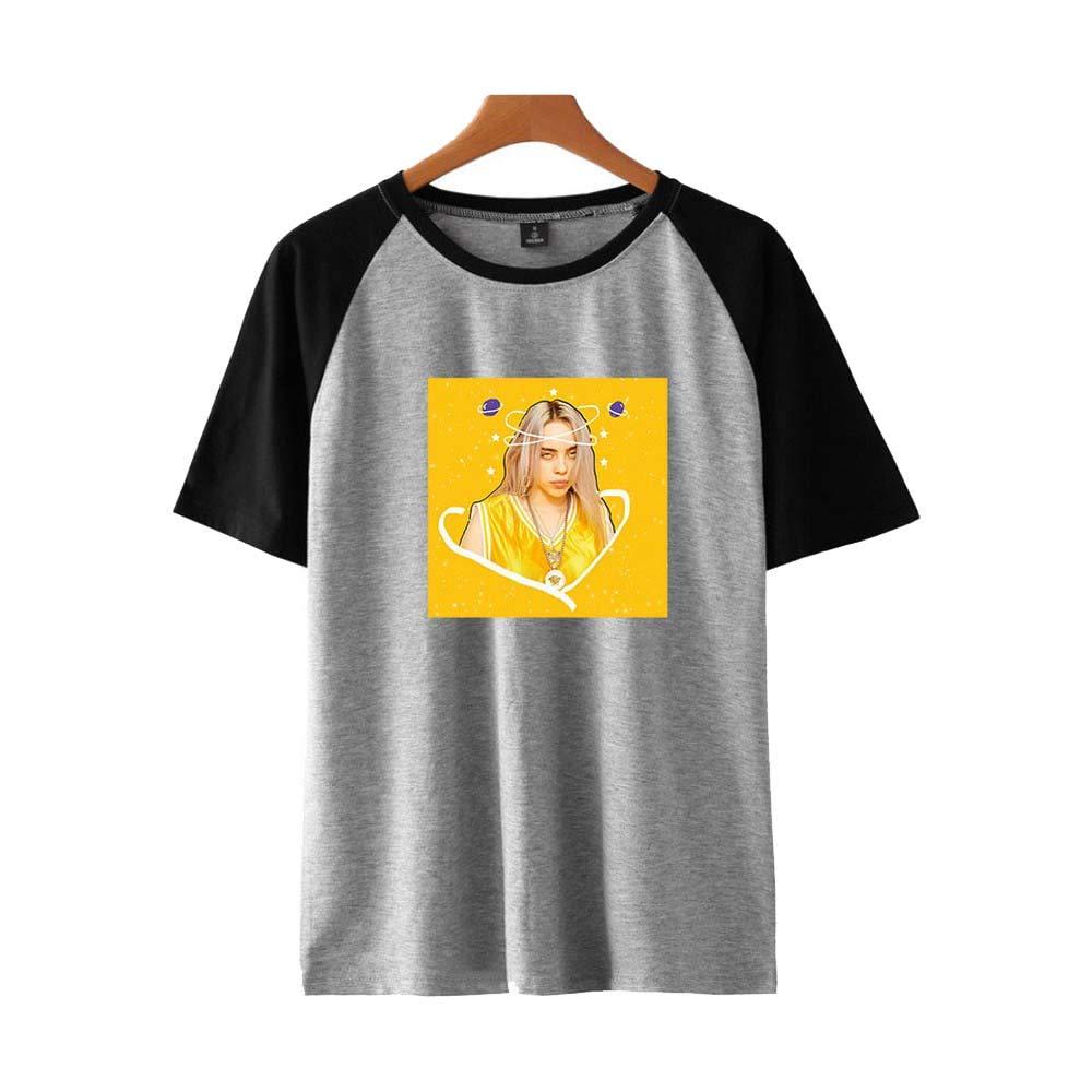 YOYOBABY Rapper Billie Eilish Dresses Short Sleeved Shoulder Suits for Men and Women