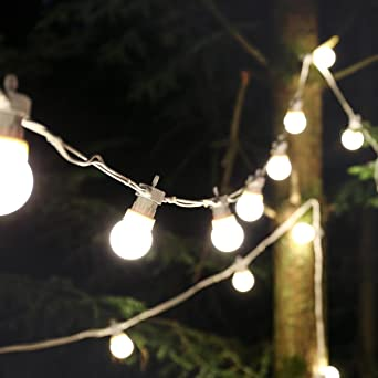 Guirlande Lumineuse Style Guinguette 5 Mètres 240V Raccordable 10 Ampoules  à LED Éclairage Blanc Chaud Sur