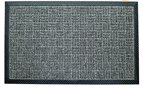 Iron Gate - 2 Pk Gatekeeper Doormat 18x30 Grey - Extremely Sturdy and Rugged Construction 69 Ounces / 6000 GSM - Polypropylene Surface & Rubber Back for Better Floor Grip - Indoor/Outdoor use