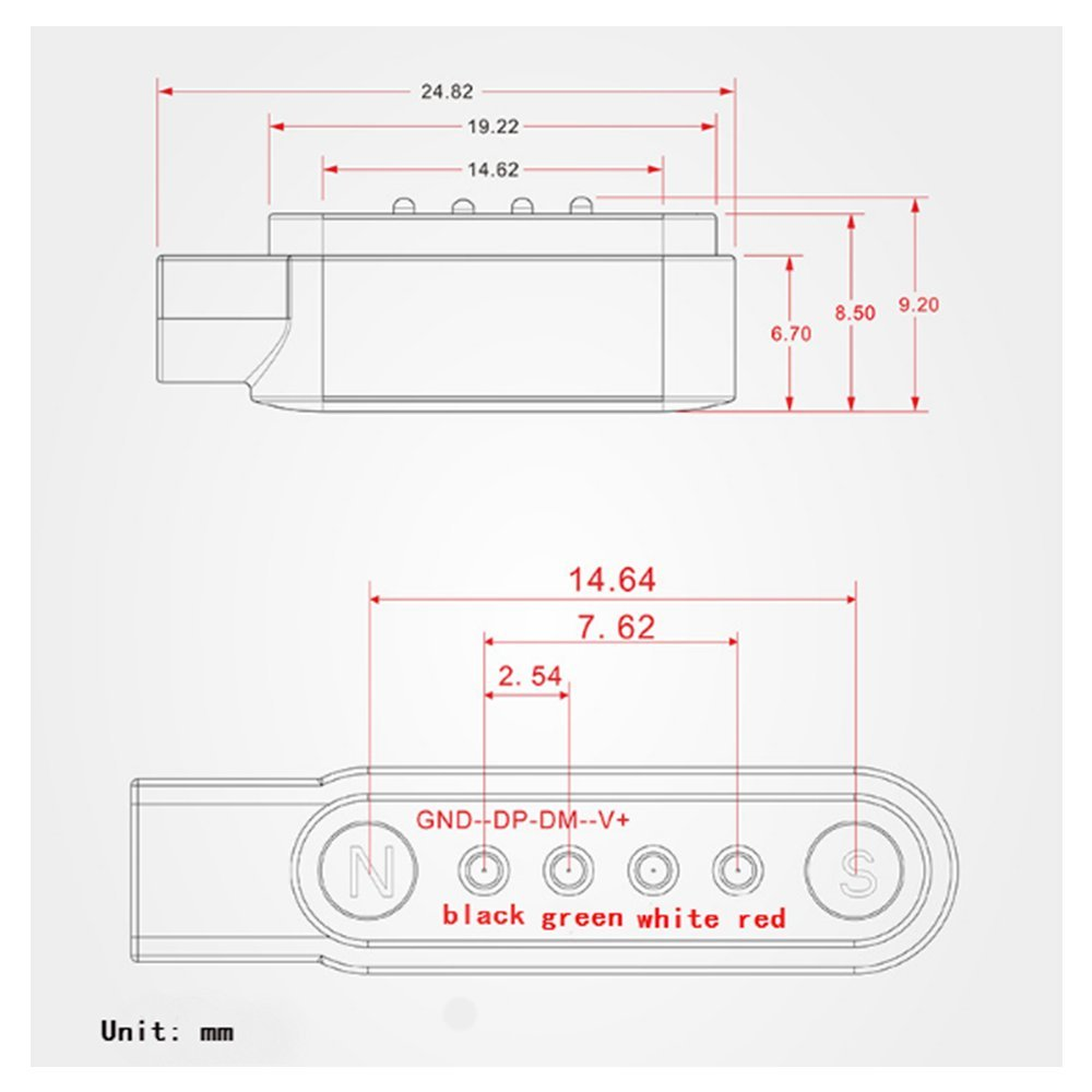 Cable de carga para Smartwatch, GT88, GT68, KW08, KW18, KW88, KW98 ...