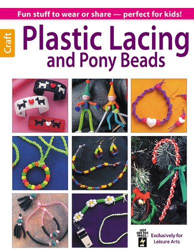 Plastic Lacing & Pony Beads (Leisure Arts Craft) -