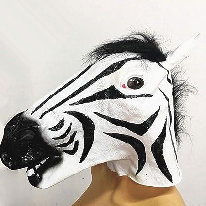 Kays Mascaras de Halloween Máscara De Cebra, Máscara De Halloween, Máscara De Látex para