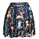 ABCHIC Women's/Big Girls' Printed Flared Pleated Skater Skirt Fit For Over 14 Years Old