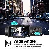 AQP 4K Dual Dash Cam, 3840x2160P Ultra HD Front and 1080P Inside Car Dash Camera, Built-in GPS WiFi Dual Sony Sensors IR Night Vision Parking Monitor G-Sensor 32G SD Card for Cars Truck Taxi