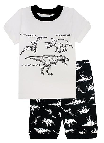 Amazon.com: Poco y Big Boys dinosaurio pijama 100% algodón ...