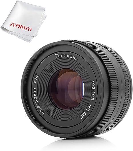 Objetivo 7artisans 50mm f1.8 APS-C Manual fijo lente para Fuji X ...