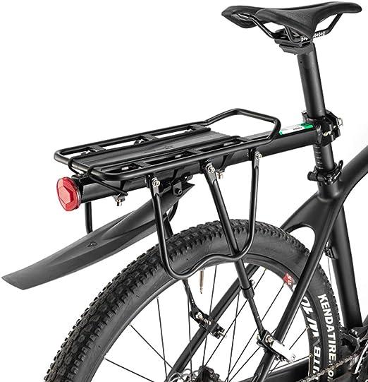 ROCKBROS Portaequipajes Trasero para Bicicleta Liberación rápida Ajustable con Reflector y Guardabarros de Aleación de Aluminio Carga Máxima 50 kg: Amazon.es: Deportes y aire libre