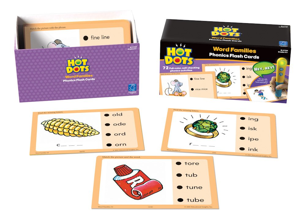 Educational Insights Hot Dots Flash Cards- Word Families