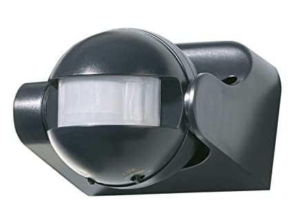 Powerfix Profi – Detector de movimiento ap 180 °, Color negro ideal para Halógena bajo