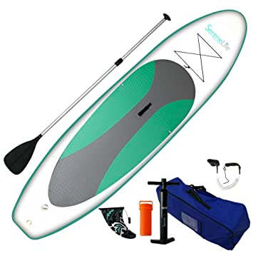 serenelife hinchable Stand Up Paddle Board (6 cm de grosor) Universal Sup amplia Stance