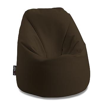 e72796edabe63d * Bonita L * braun Sitzsack Sack weichem Kunstleder Mis. 85 x 85 H.100 cm  mit Reißverschluss ...