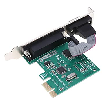 H HILABEE Tarjeta PCI-E De 2 Puertos A LPT Impresora 3D De Puerto ...