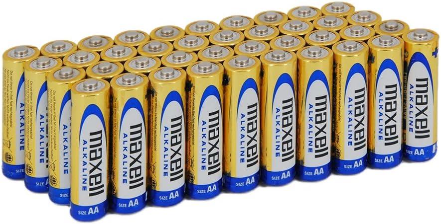 Maxell Lr06 Packung Mit 40 Aa Alkaline Batterien Elektronik