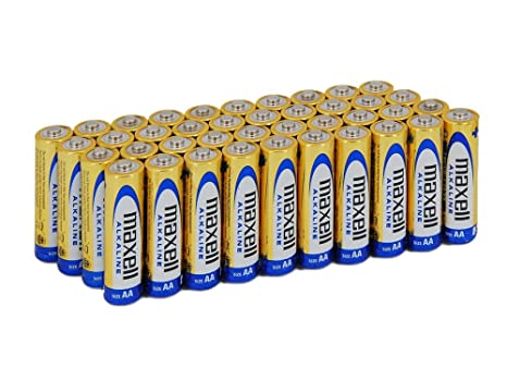 Maxell LR6 - Pack de 40 Pilas alcalinas AA, Color Dorado