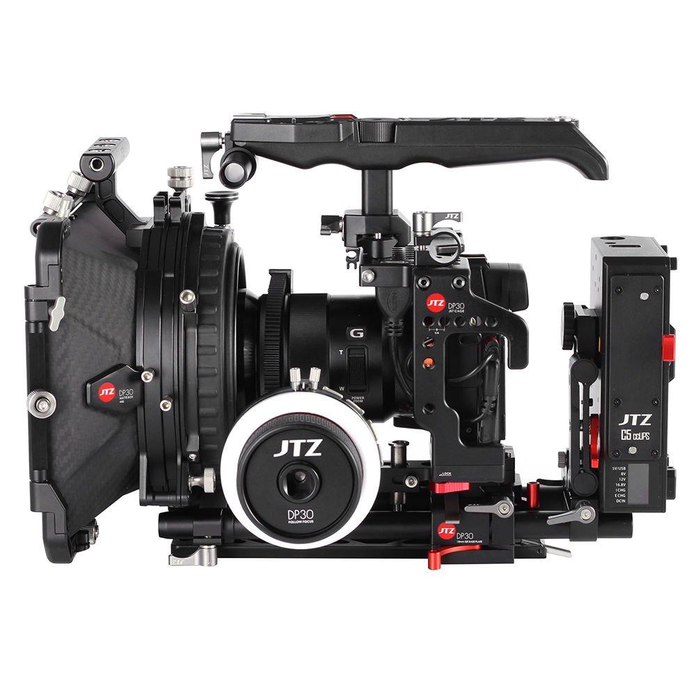 JTZ DP30 カメラケージ ベースプレート マットボックス フォーカスリグ キット ソニー α7 α7II α7S α7R対応(ケージリグ+ショルダーグリップ+フォローフォーカス+マットボックス) B0732QYPMX ケージリグ+ショルダーグリップ+フォローフォーカス+マットボックス+電源プレート ケージリグ+ショルダーグリップ+フォローフォーカス+マットボックス+電源プレート