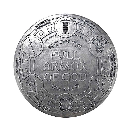 Armor Of God Silver Toned 12 x 12 Resin Tabletop or Wall Plaque Sign