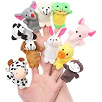 Asian Hobby Crafts Animal Finger Puppet (Pack of 10)