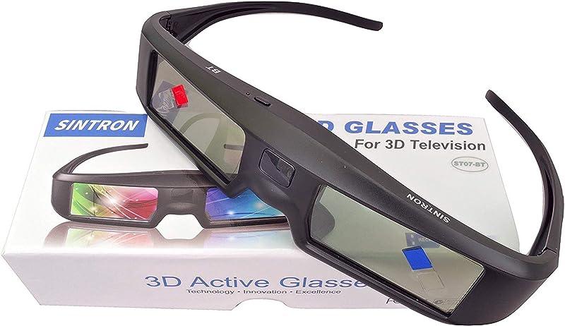 2X Sintron ST07-BT 3D Active Shutter Glasses Rechargeable for RF 3D TV, 3D Glasses for Sony, Panasonic, Samsung 3D TV, Epson 3D Projector