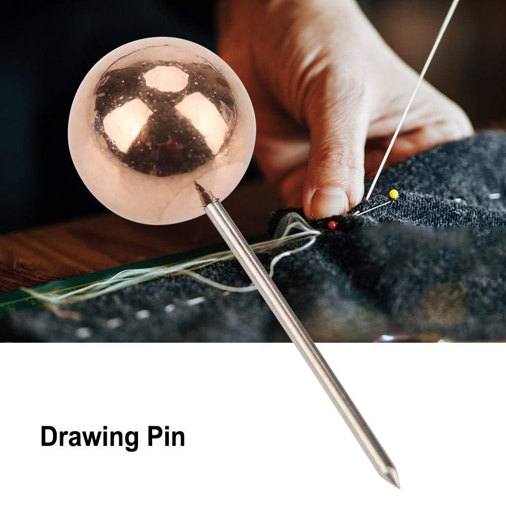 Akozon Map Push Pins Decorativo Mappa Puntine Marcatura Spingi Pin 200pz Rotonda Sfera Puntina in Plastica Puntine da Disegno Decorativo Bianco