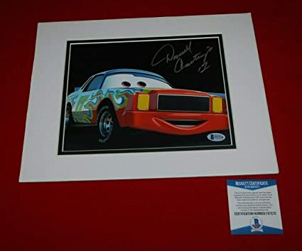 Autographed Darrell Waltrip Photo - disney cars cartrip HOF