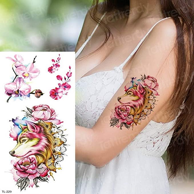Handaxian 3 unids Moda Tatuaje esternón y Arte Corporal Tatuaje 3 ...