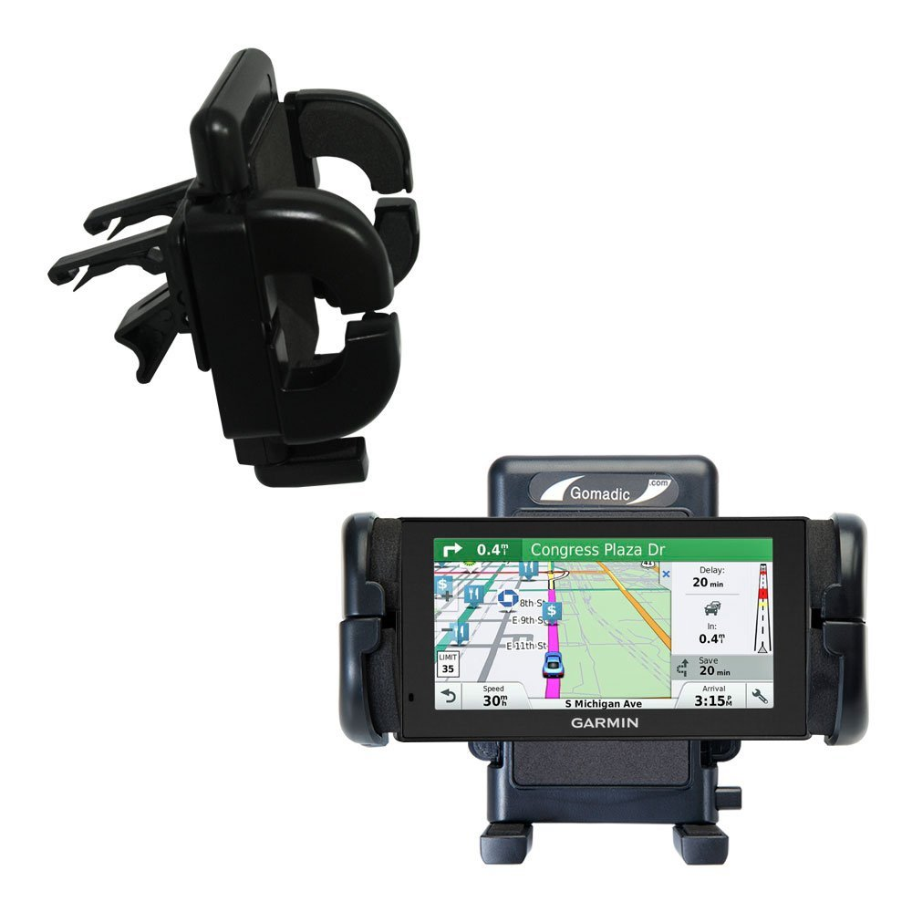 Gomadic Air Vent Clip Based Cradle Holder Car / Auto Mount suitable for the Garmin DriveSmart 60LMT