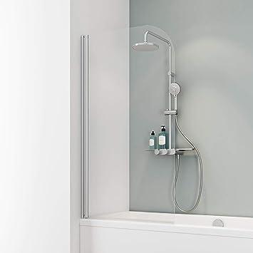 Schulte Mampara de bañera para pegar Cristal 1 piezas 140 x 80 cm Berlin, 1 pieza, 4056397003847, 1 pieza, 1400 x 810 mm, aluminio natural: Amazon.es: Bricolaje y herramientas