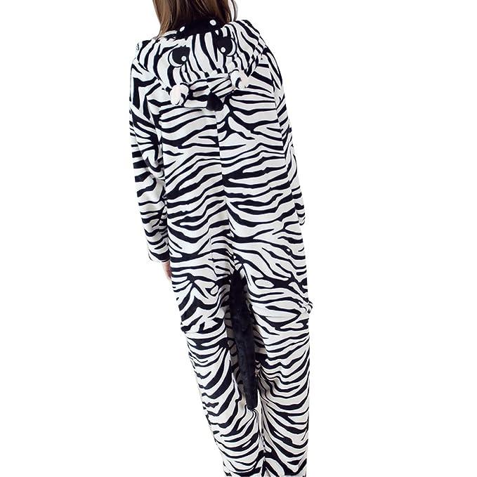 FuweiEncore Pijama Animal de Cebra, Flanela, Cosplay de Vestuario, Disfraces, Ropa de Dormir: Amazon.es: Ropa y accesorios