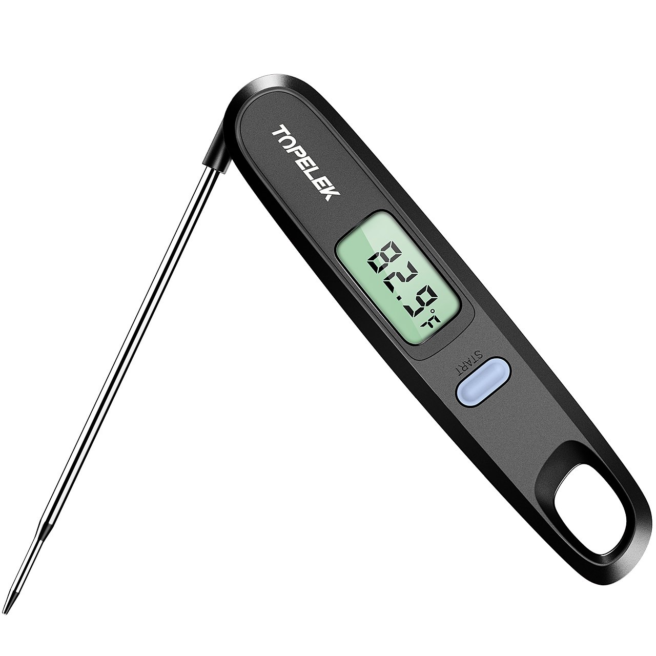 TOPELEK Digital Cooking Kitchen Thermometer Instant Read Sensor with Foldable Probe