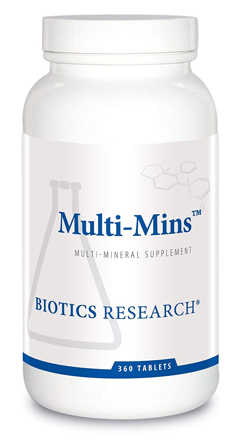 Biotics Research Multi-Mins – Multi-Mineral Complex, Full-Spectrum Mineral Complex, Balanced Source of Mineral Chelates and Whole Food, Phytochemically-Bound Trace Minerals, Easily Absorbed. 360 Tabs