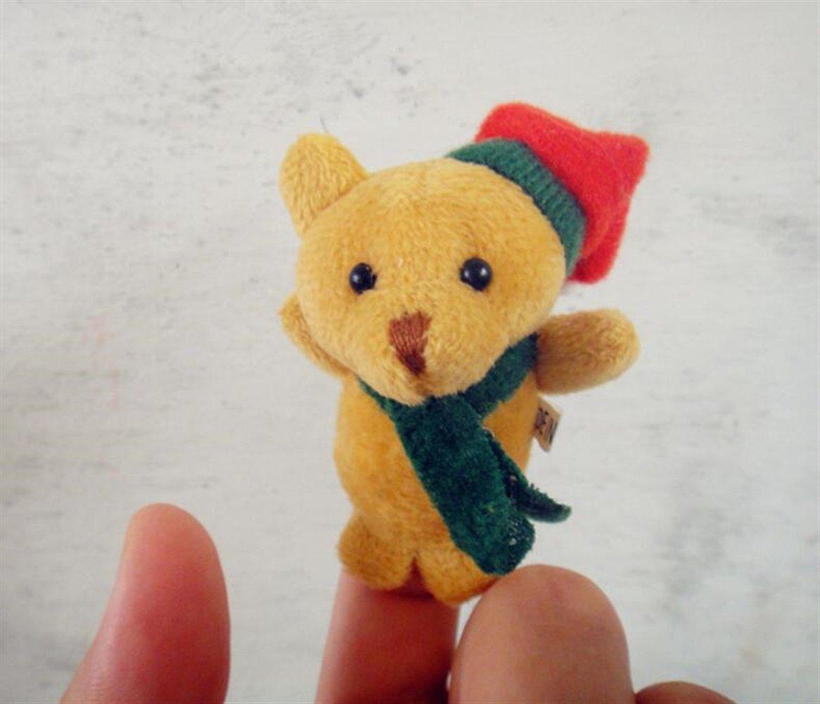 Mings Améliorer la capacité de Reconnaissance des 1 Pcs Marionnettes Finger Christmas (Ours en Peluche)