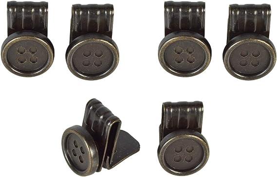 Olata Clips de Botones para Tirantes de Cuero. 6 en Caja de Presentación. Latón: Amazon.es: Ropa y accesorios