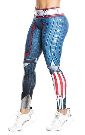 207edef1c93062 Drakon \ Fiber Superhero Many Styles Leggings Yoga Pants Compression Tights  (Captain America - Fiber