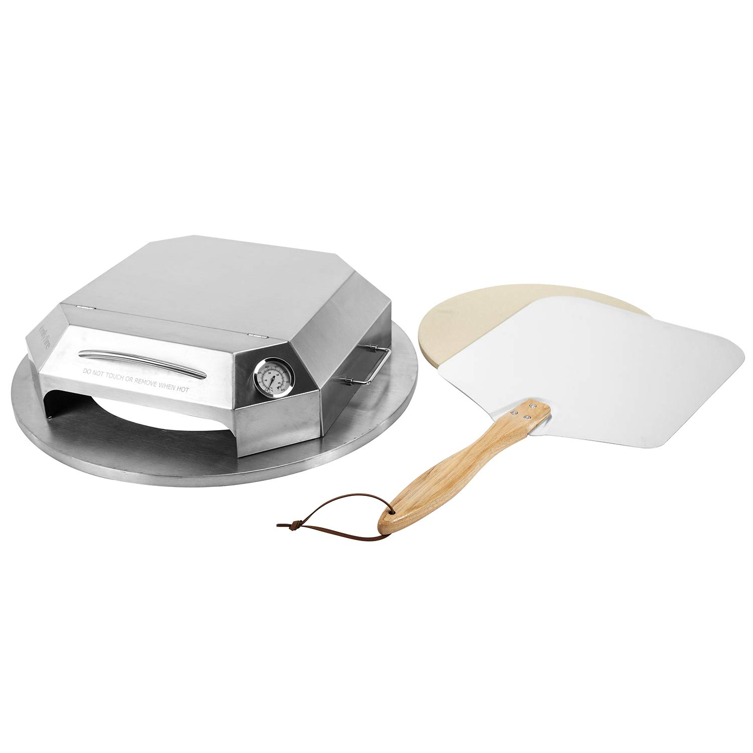 only fire Stainless Steel Pizza Oven Kit Fits for Weber and Most 22'' Charcoal Kettle Grill