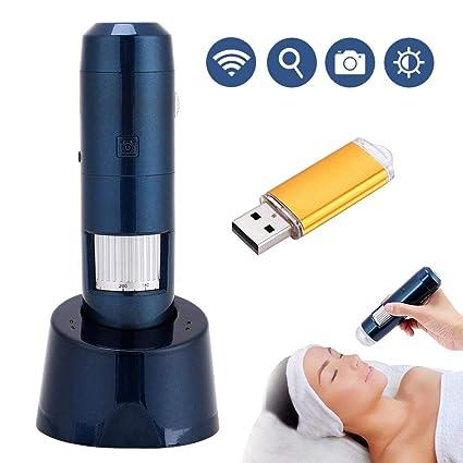 Detector del Cuero Cabelludo del Pelo de la Piel Digital Microscopio,5-200X Wifi