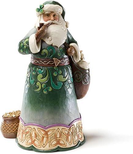 Enesco Jim Shore Heartwood Creek from Green Irish Santa Figurine 10.25 in