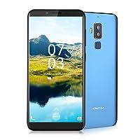 Homtom S8 Smartphone Libre, 4G Teléfono Inteligente(5.7 Pulgadas 720 x 1440 pixel HD Pantalla, MTK6705T Octa Core 1.5GHz, 4GB RAM + 64GB ROM,Android 7.0, 16.0MP y 5.0MP Cámara Trasera + 13.0MP Cámara Frontal, Huellas Dactilares de Gesto Inteligente), Azul