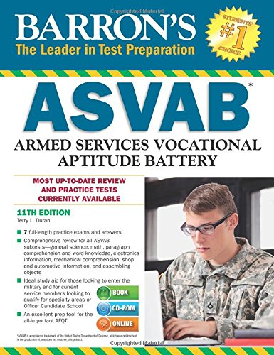 Pdf Test Preparation Barron's ASVAB with CD-ROM, 11th Edition