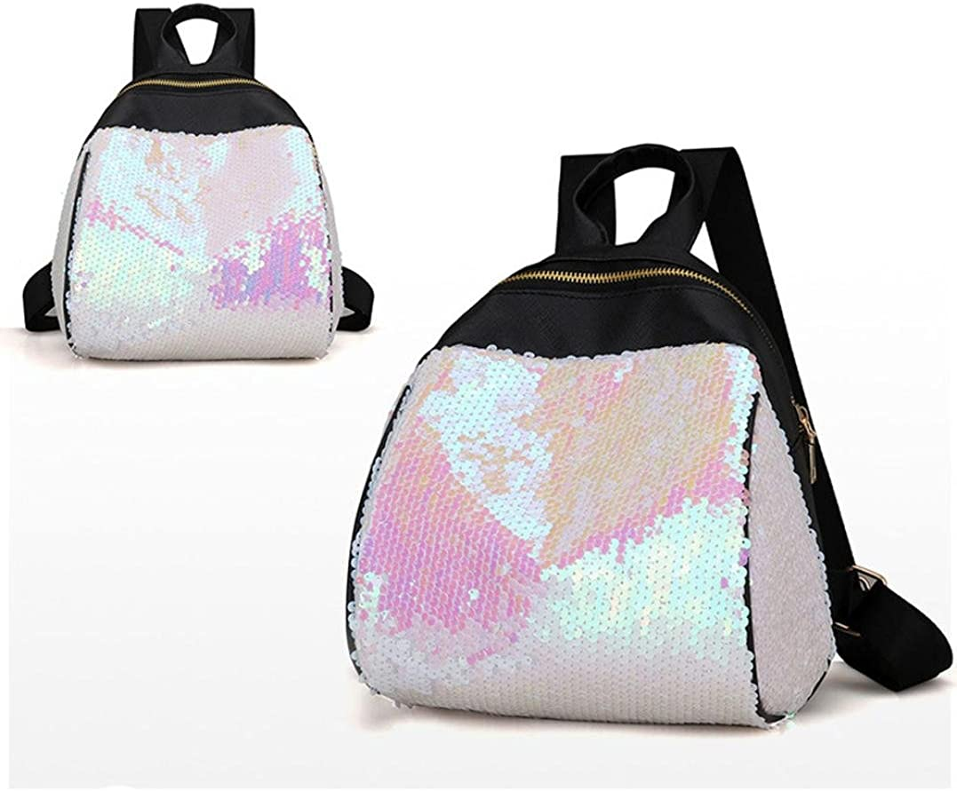 Women Girl Backpack,ZOMUSA Travel Rucksack Shiny Sequins Shoulder Bags Clearance