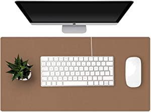 GORESE Office Desk Pad,Waterproof Desk Mat, Large Mouse Pad for Computers, Keyboards and Laptops, Anti-Slip Writing Mat for Office and Home (Brown, 60 x 30 cm/ 23.6 x 11.8 inches)