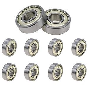 Rannb 6000Z Double Shielded Ball Bearings Small Bearings 26mm x 10mm x 8mm - 10pcs