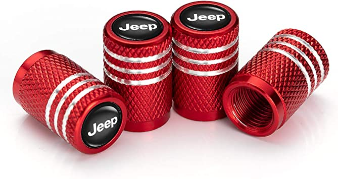 A ABIGAIL Tires Valve Stem Caps for Chrysler Jeep Grand Cherokee Wrangler Compass Cherokee Renegade Patriot Grand Comander Decoration Accessories