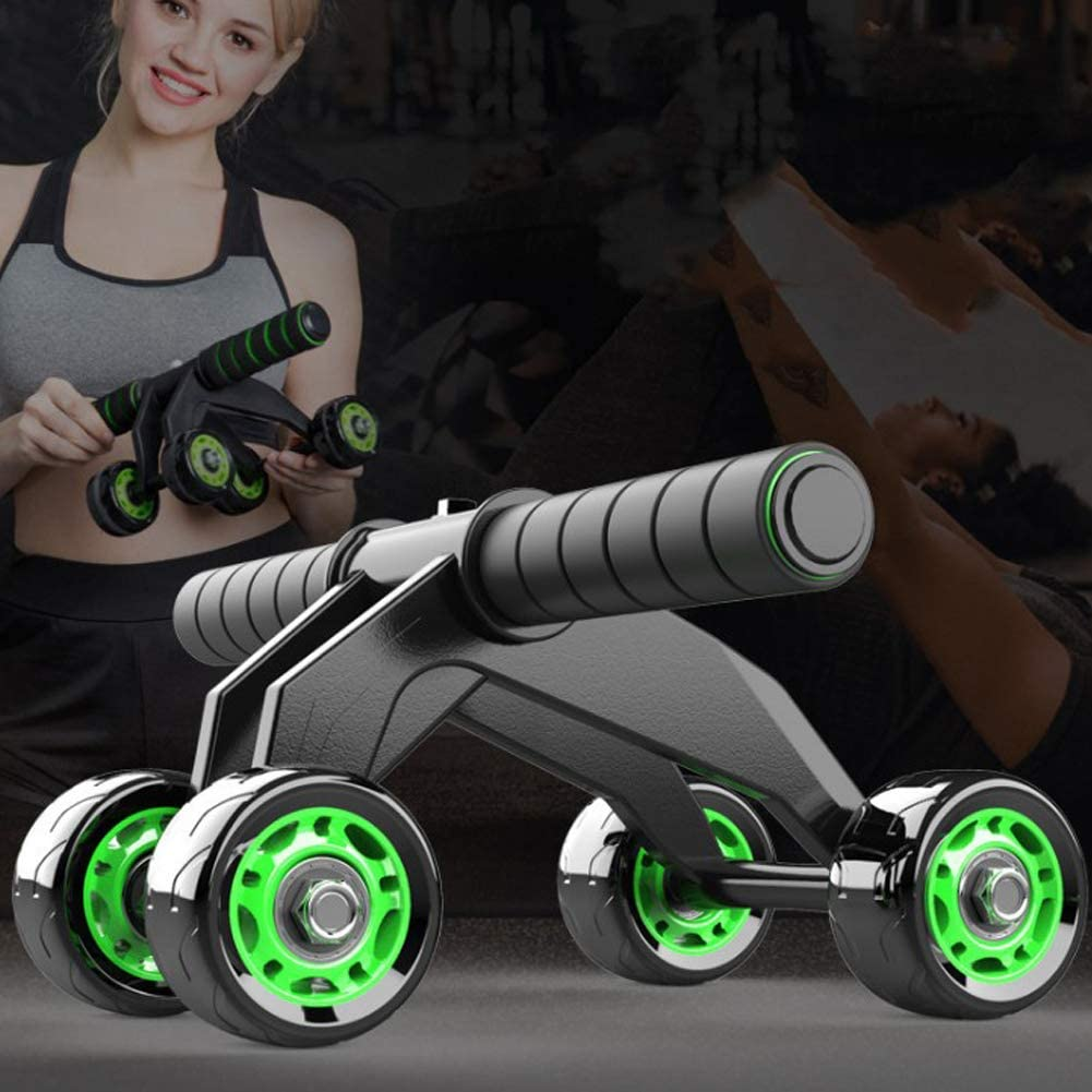 Automatic 4 Wheel Foldable Abs Roller for Women Men with Knee Pad /& Resistance Band Abdominal Muscle Training Wheel Luixxuer AB Roller Wheel for Abdominal Exercise Abs Exercise Wheel Roller